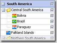 Region Filters South America
